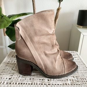 Sbicca Millie Slouchy Distressed Suede Boots